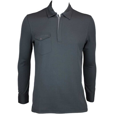 Galvin Green Martin Long Sleeve Golf Shirt Black AW15