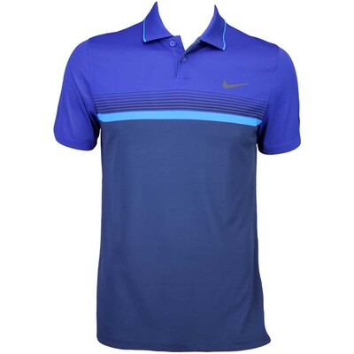 Nike MDRN Momentum Fly Stripe Golf Shirt Midnight Navy AW15