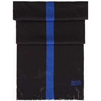 Hugo Boss Knitter Wool Blend Scarf Dark Grey
