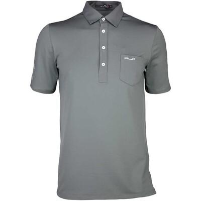 RLX Golf Shirt Woven Tech Pique Charcoal Grey SS16
