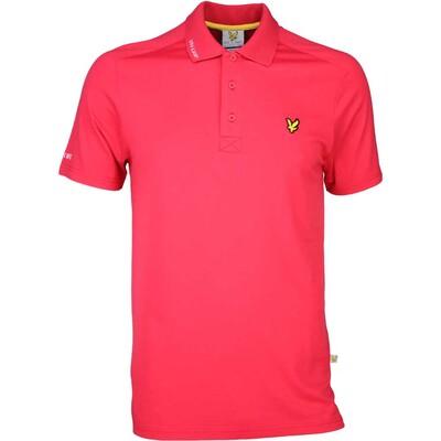 Lyle Scott Golf Shirt 8211 Hawick Tech Tour Bellini Red SS16