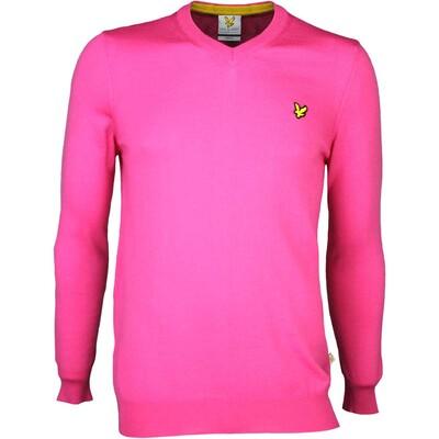 Lyle Scott Golf Jumper 8211 Nevis Merino V Neck Modern Pink SS16
