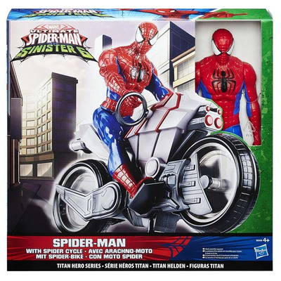 Ultimate Spider Man Vs Sinister 6 Titan Heroes   Spider Man With Spider Cycle