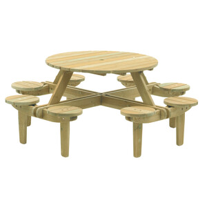 Alexander Rose Pine Gleneagles 8 Seat Picnic Table
