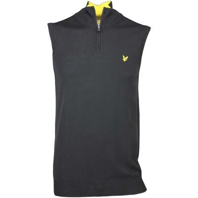 Lyle Scott Golf Jumper Lomond Merino Zip Vest Black AW16