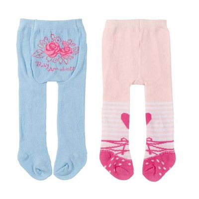 Zapf Baby Annabell Doll Tights Twin Pack: Blue & Pink