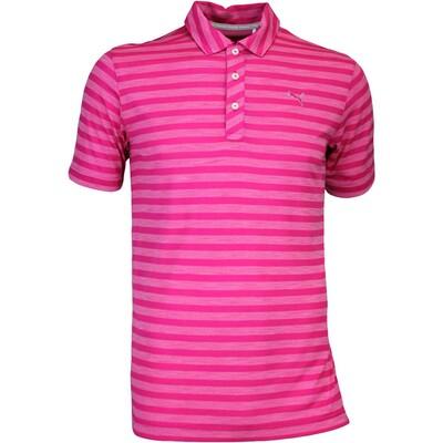 Puma Golf Shirt Mixed Stripe Beetroot AW16