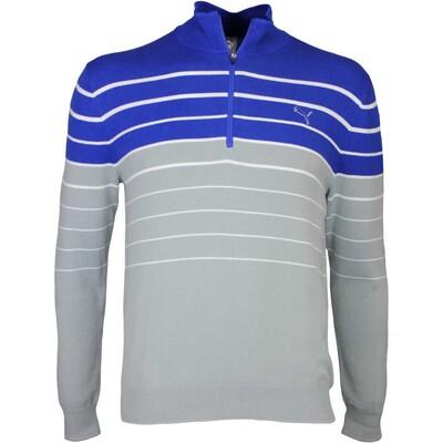 Puma Golf Jumper Quarter Zip Stripe Surf the Web AW16