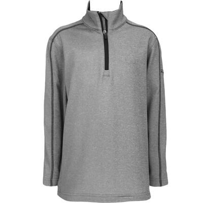 Puma Junior Golf Pullover Core Fleece JR Grey Heather AW16