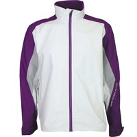 Galvin Green Waterproof Golf Jacket - ASTON White - Plum