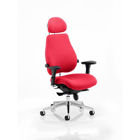 Image of Chiro Plus 'Ultimate' Posture Chair Cherry Fabric