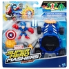 Marvel Super Hero Mashers Captain America Racer Vehicle And Figure