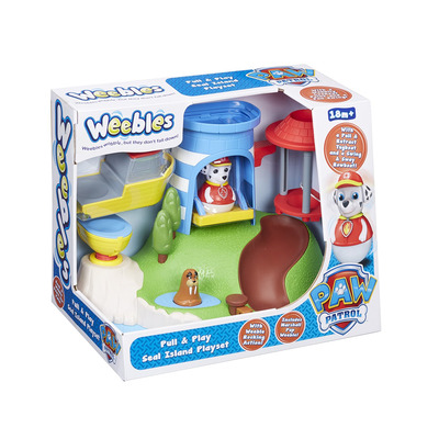 Weebles Peppa Pig 06114 Paw Patrol Pull And Play Seal Island Playset