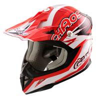 Image of Chaos Kids Motocross Crash Helmet Red