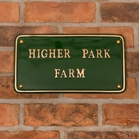 Brass Rectangle House Sign 30 x 17.5cm