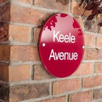 Acrylic House Sign Round 30cm diameter (WAC12 )