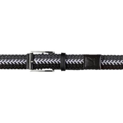 Puma Golf Belt Stretch Braided Black Quiet Shade AW17