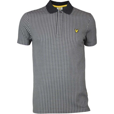 Lyle Scott Golf Shirt Haddington Houndstooth Slate SS17