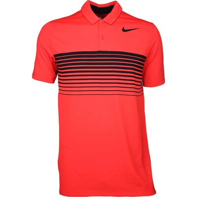 Nike Golf Shirt Mobility Speed Stripe Max Orange SS17