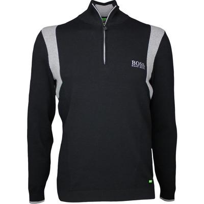 Hugo Boss Golf Jumper Zelchior Pro Black Grey SP17