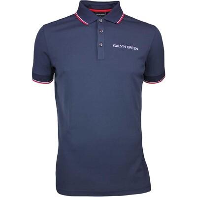 Galvin Green Golf Shirt MILLER Tour Ventil8 Navy AW17