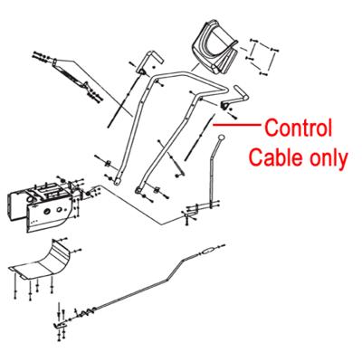 Stiga Stiga 1811-2586-01 Control Cable for the Stiga Snow Cube