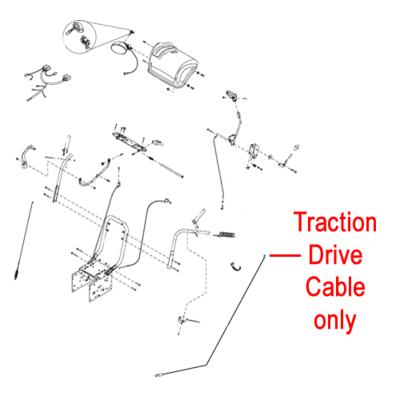 Stiga Stiga 1812-2539-01 Drive Cable Traction for the Stiga Snow Flake