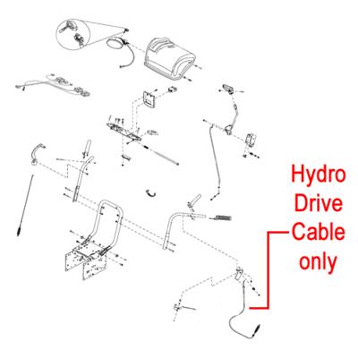Stiga Stiga 1812-2227-01 Drive Cable Hydro for the Stiga Pro 1171 and 1381 HST