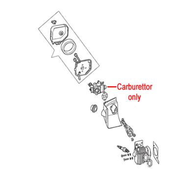 MacAllister Macallister MHTP245-2 Mountfield Carburettor 123054036/0