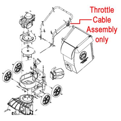 Billy Goat Billy Goat KV600 Throttle Cable Assembly 891036