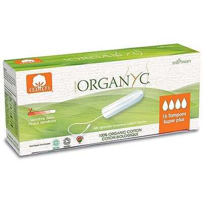 Organyc Super Plus Cotton Tampons