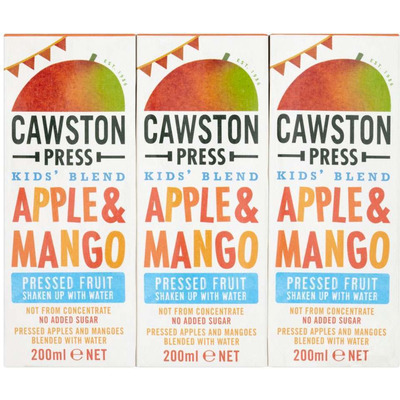 Cawston Press Kids Blend Apple & Mango 3 x 200ml