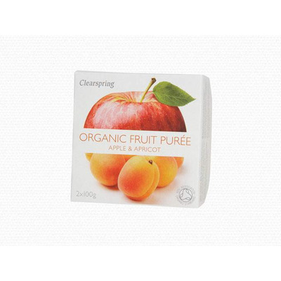 Clearspring Organic Fruit Purée Apple & Apricot 2 x 100g