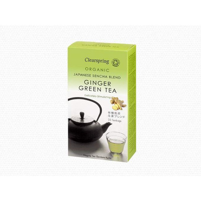 Clearspring Organic Ginger Green Tea 20 Tea Bags
