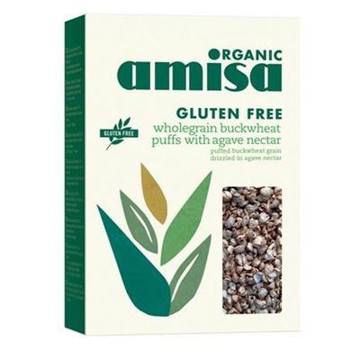 Amisa Organic Gluten Free Wholegrain Buckwheat Puffs 225g