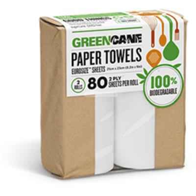Greencane 100% Biodegradable Kitchen Towels - Pack of 2