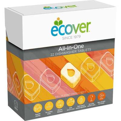 Ecover All-In-One Dishwasher 22 Tablets