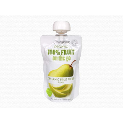 Clearspring Organic 100% Fruit On The Go Puree - Pear 100g