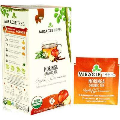 Miracle Tree Moringa Organic Apple & Cinnamon Tea 25 Bags