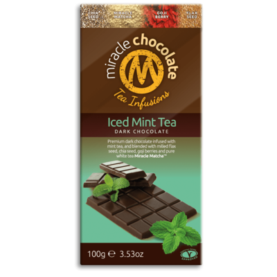Miracle Matcha Iced Mint Tea Dark Chocolate 100g