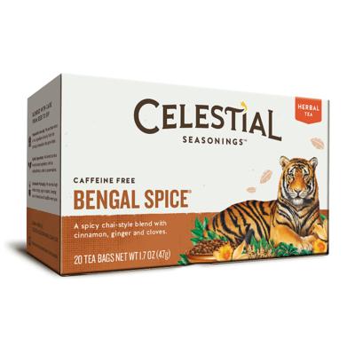 Celestial Seasonings Bengal Spice Herbal Tea 20 Bags