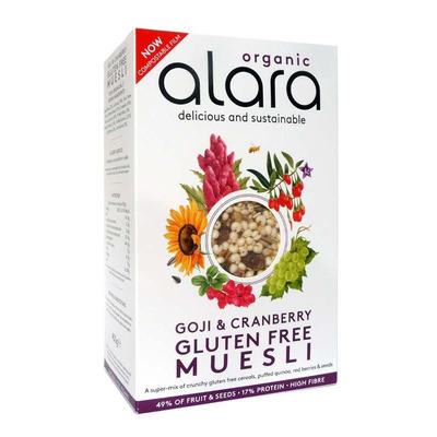 Alara Organic Gluten Free Goji Berry & Cranberry Muesli 450g