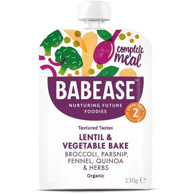Babease Lentil Vegetable Bake 130g - Stage 2 - Box of 6