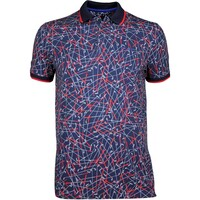 Ted Baker Golf Shirt Slice Club Print Polo Navy SS17