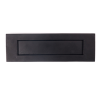 Black Iron Letterplate Letterbox