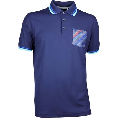 Puma Golf Shirt Pixel Pocket Peacoat AW17