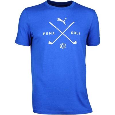 Puma Golf T Shirt Shield Tee Lapis Blue AW17