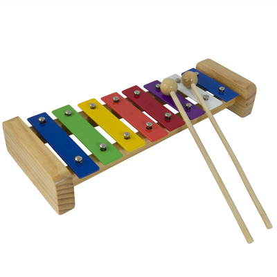 Glockenspiel Xylophone for Kids - 8 Multi Coloured Keys