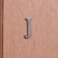 Self Adhesive 40mm Aluminium Letter J