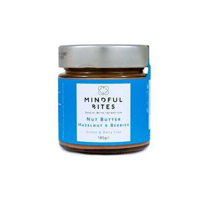 Mindful Bites Gluten Free Nut Butter Hazelnut & Berries 185g